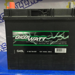 Аккумулятор GigaWatt G45L (45 Ah)