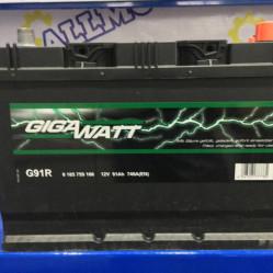 Аккумулятор GigaWatt G91R (91 Ah)
