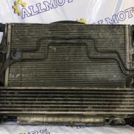 Mercedes-Benz W211, v-2.7 cdi, радиатор основной, радиатор кондиционера, интеркуллер